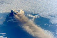 Pavlof Volcano Eruption seen from the International Space Station