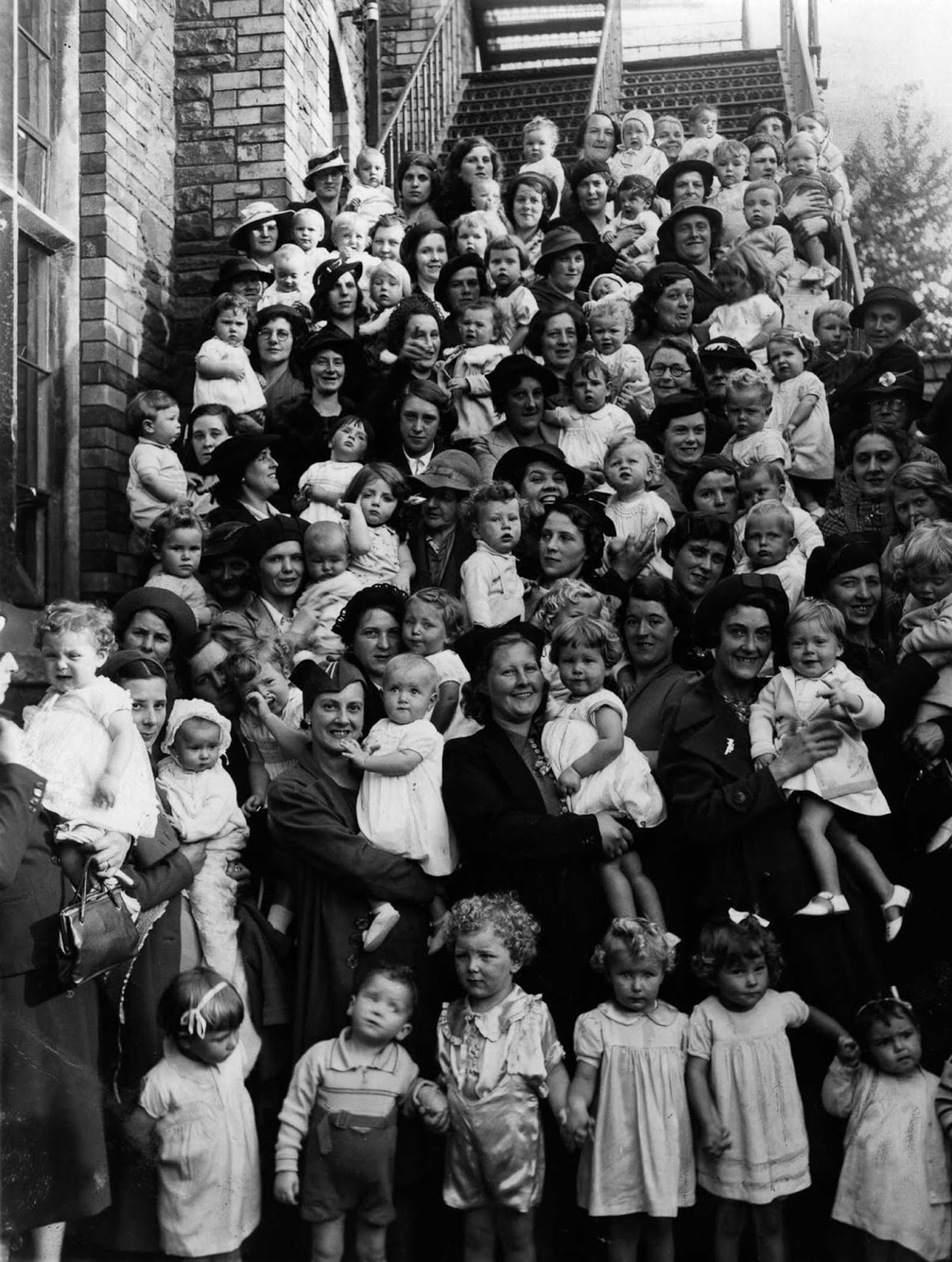 Participants in a baby show in England. 1950.