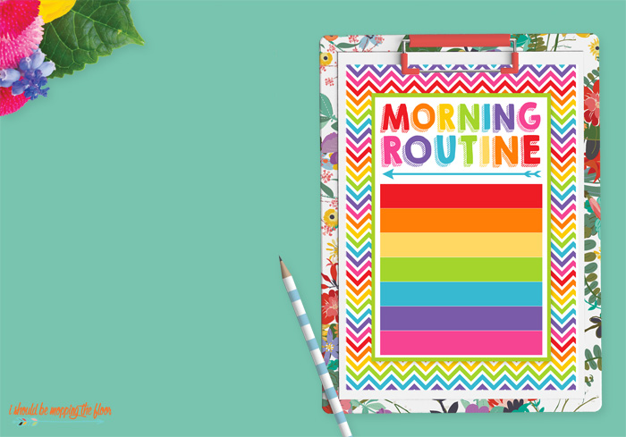Blank Morning Routine Printable