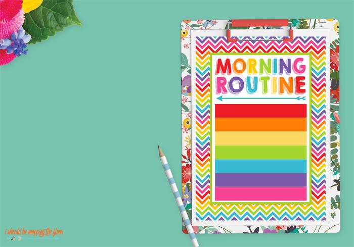 Blank Morning Routine Printable