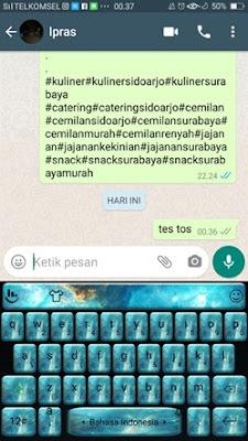 Percobaan hapus pesan whatsapp
