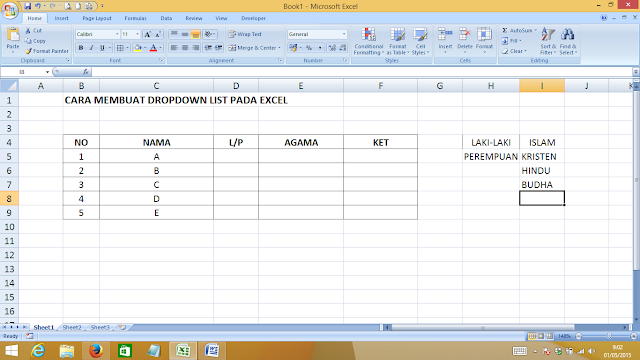 Cara Membuat Drop Down List Excel