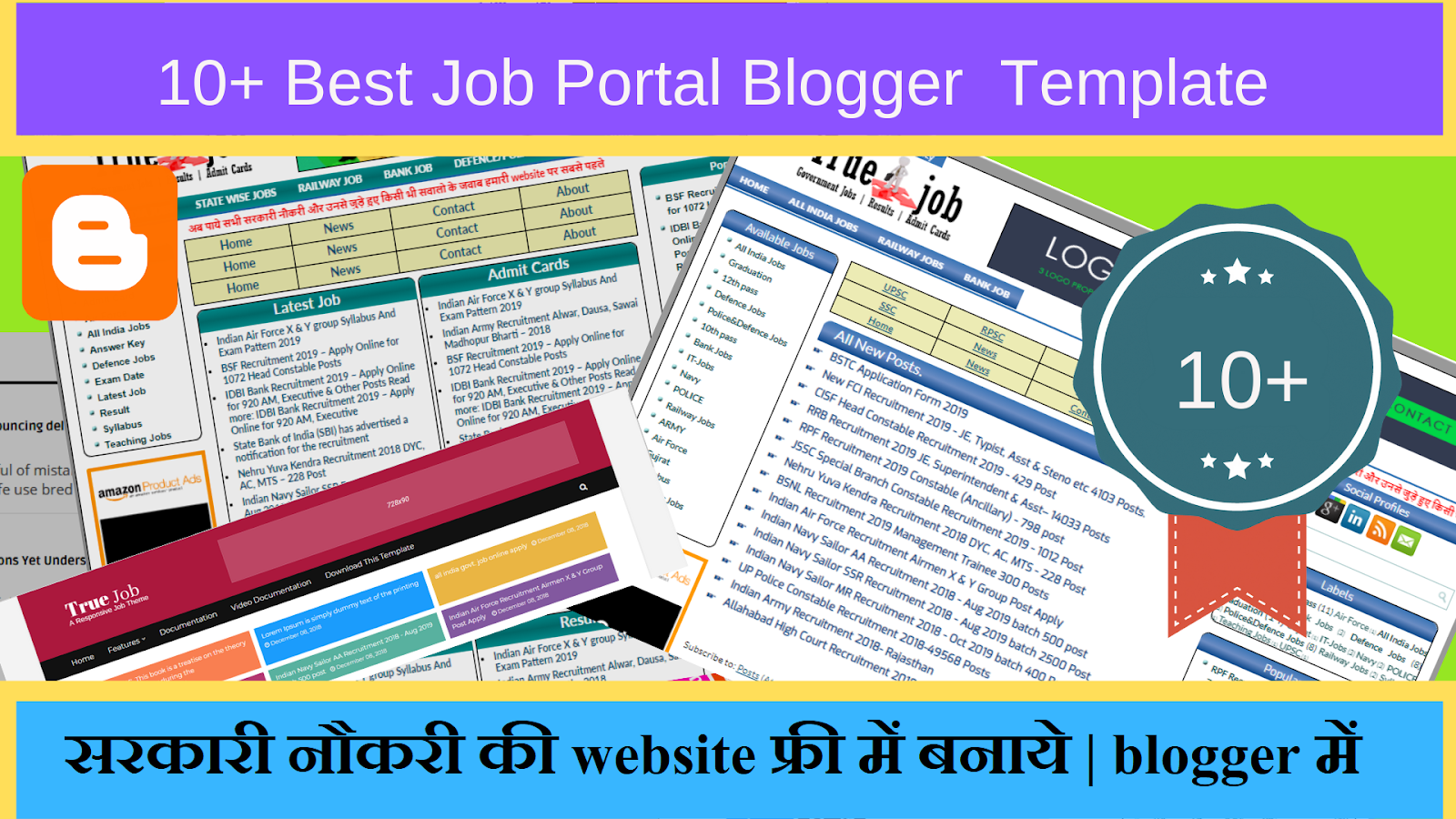 10+ Best Blogger Job Website Template Download Free