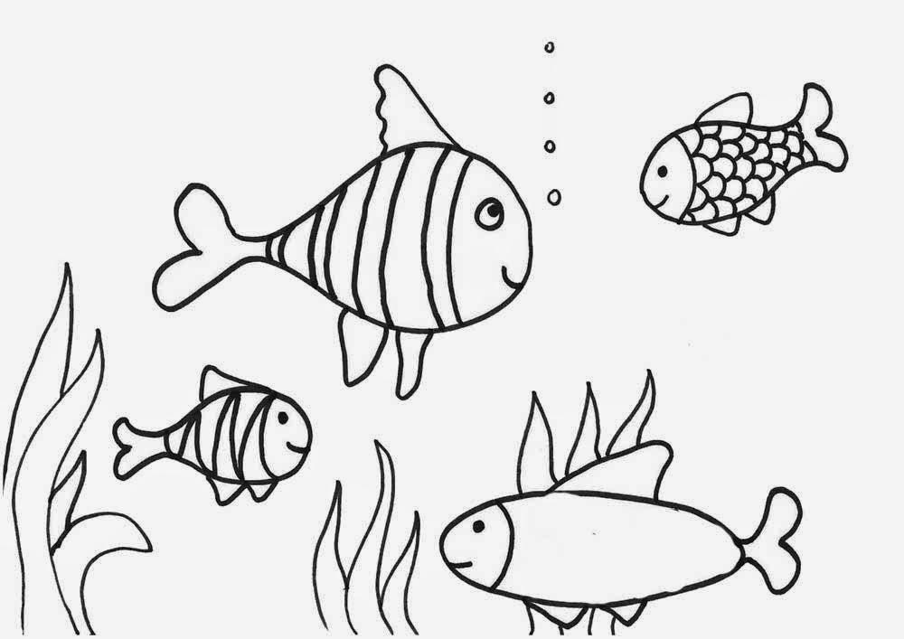 Gambar Mewarnai Ikan Gambar Mewarnai Lucu