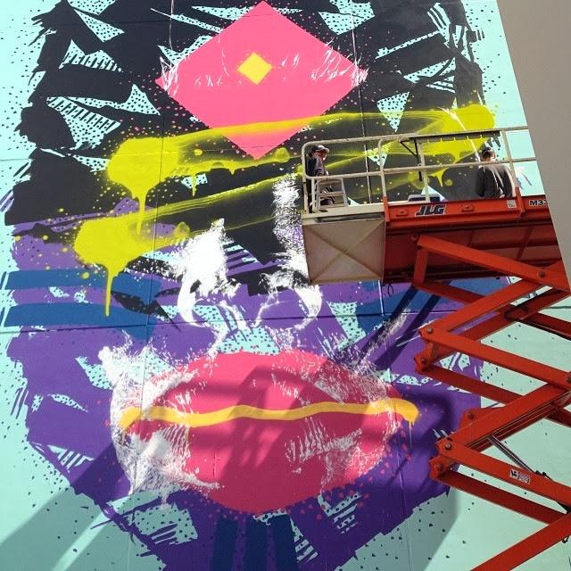New Street Art Portraits by Australian Artist Askew in New Zealand For Rise Urban Art Festival. 3