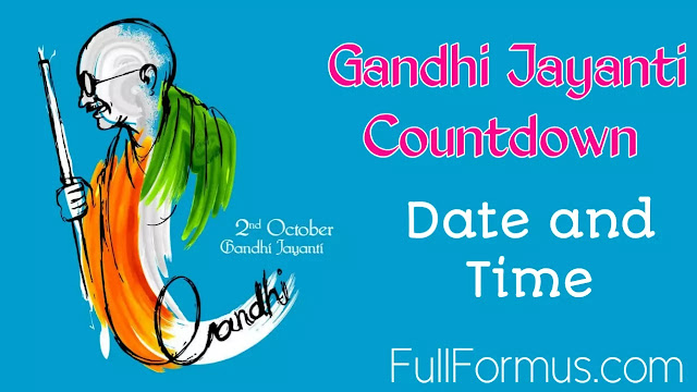 Gandhi Jayanti countdown 2022
