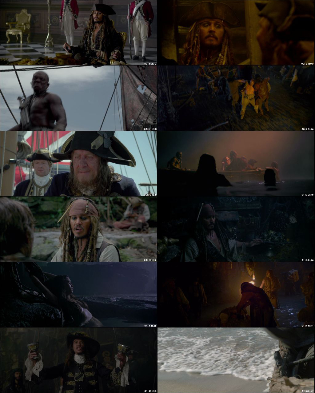 Pirates of the Caribbean On Stranger Tides 2011 Hindi Dual Audio 480p 720p 1080p HD BRRip ESub