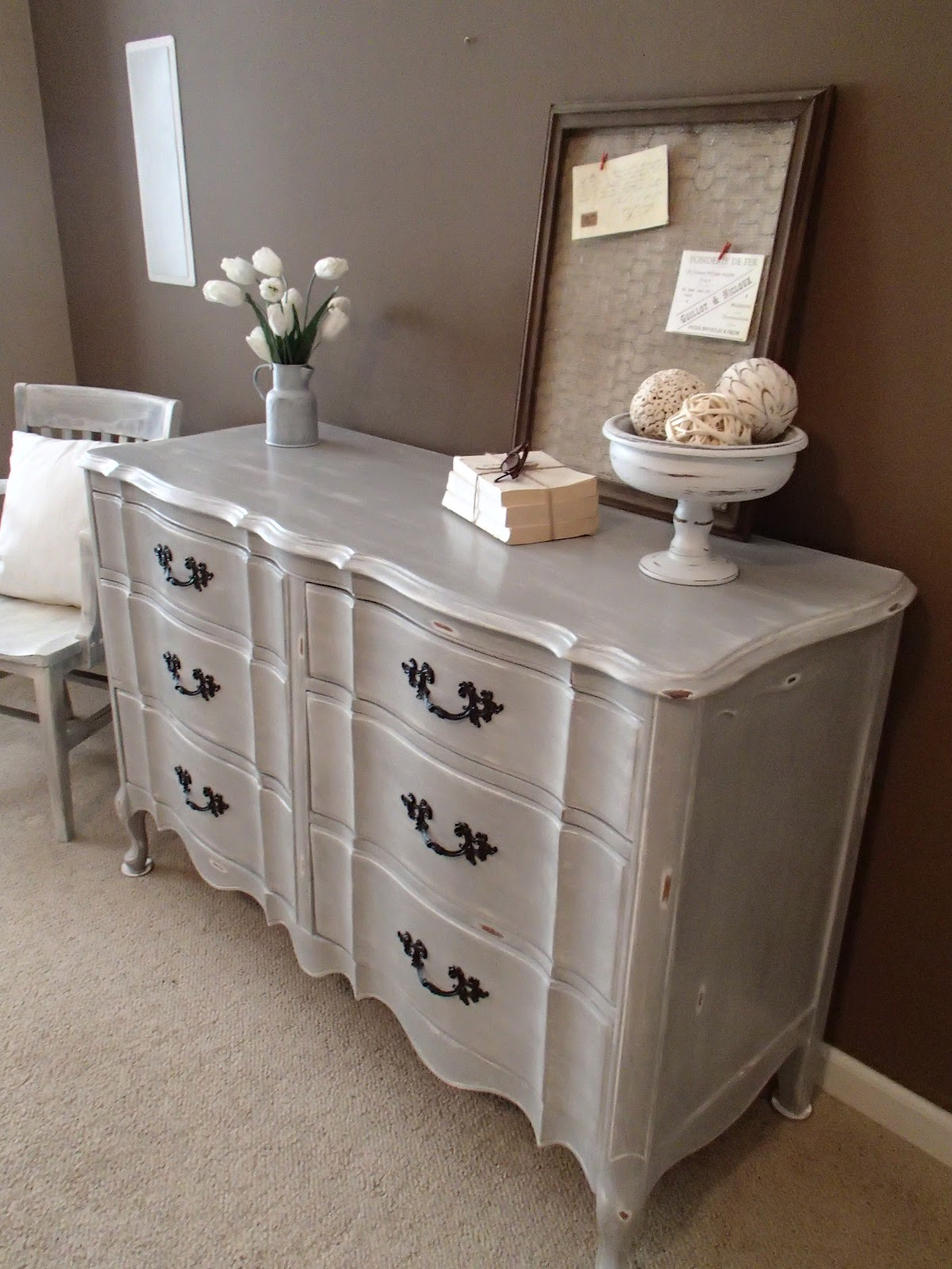 New Again Paris Grey Dresser