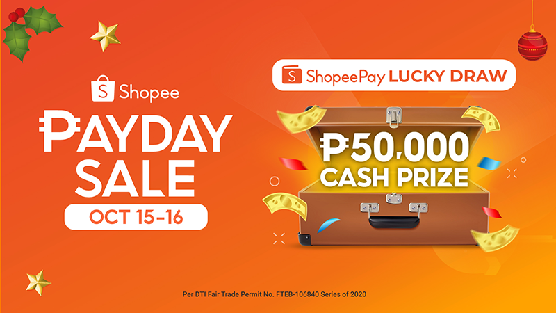 Get a chance to win PHP 50K when you top-up ShopeePay during Shopee Payday Sale!