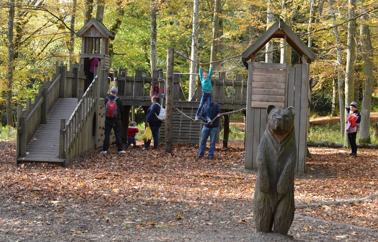Visiting the Adventure Playground & Outdoor Play Areas at Wallington Hall  - castle park