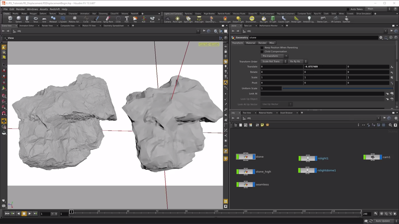Tessellation And Displacement In Redshift for Houdini | CG