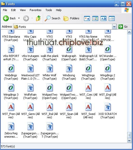 Them font cho photoshop software