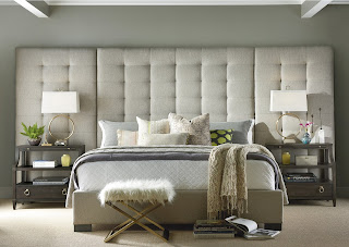 beautiful bedroom in shades of gray