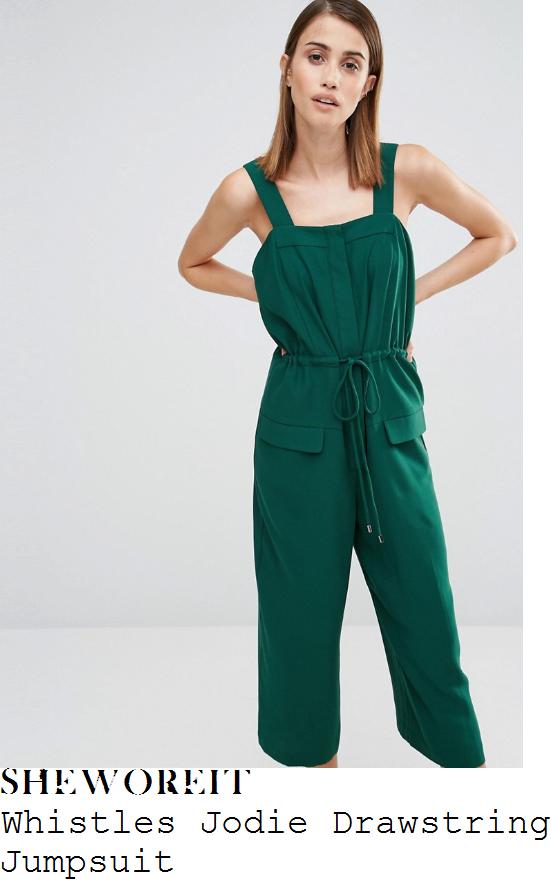 anita-rani-whistles-jodie-dark-bottle-green-sleeveless-square-neckline-drawstring-tie-waist-detail-cropped-wide-leg-jumpsuit