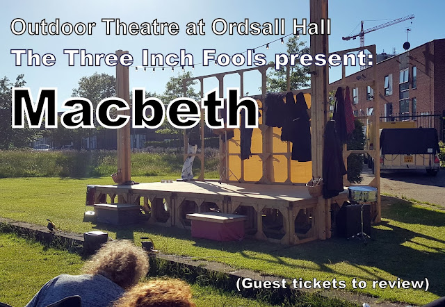 Three Inch Fools present Macbeth: Ordsall Hall Summer Outdoor Theatre Review  view of stage