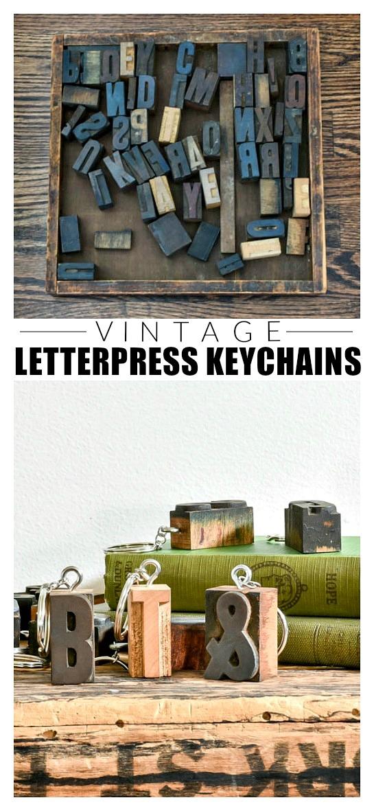 How to make DIY vintage letterpress keychains
