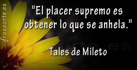 Frases famosas de Tales de Mileto