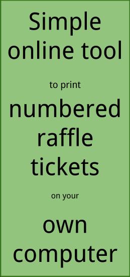 how do you make raffle tickets
