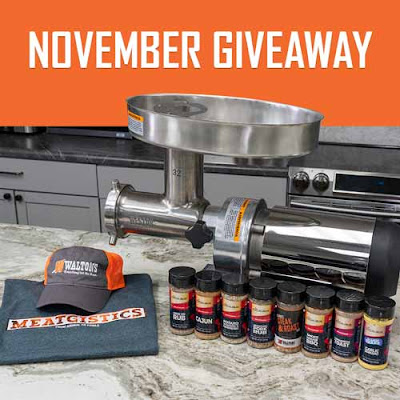 Walton's is giving away everything but the meat this year! This month they are giving away a Weston Butcher Series Grinder Worth more than $500!