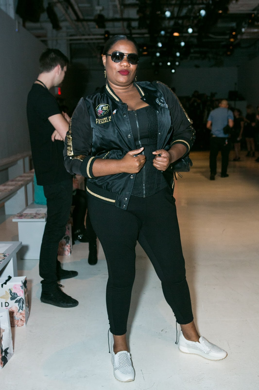 94c4eb7ecf9 The front row had your usual celebrity and high profile bloggers like Adrienne  C. Moore