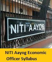 NITI Aayog Economic Officer Syllabus