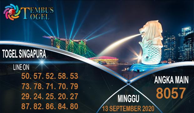 Angka Keluar Togel Singapura Minggu 13 September 2020