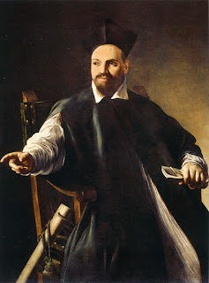 Innocent X's predecessor, Urban VIII, as  depicted by Caravaggio in 1598