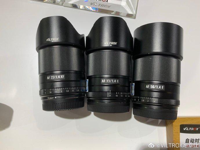 Объективы Viltrox AF 23mm f/1.4 XF, Viltrox AF 33mm f/1.4 E, Viltrox AF 56mm f/1.4 E