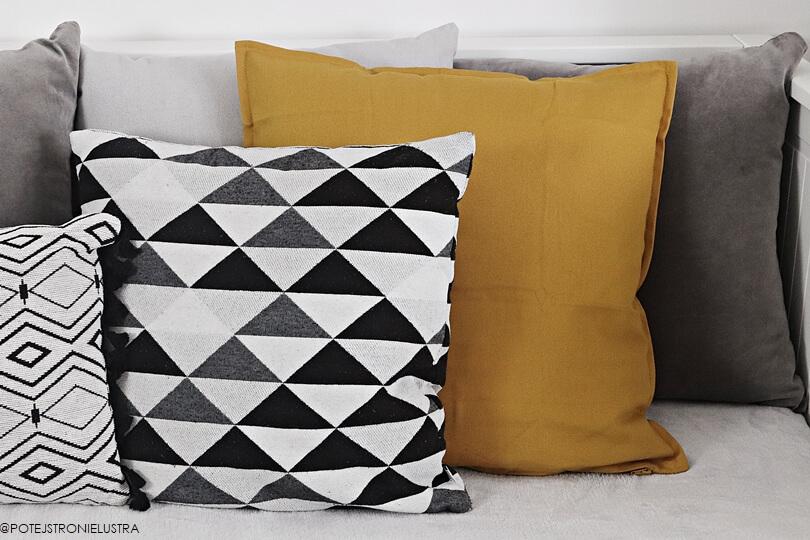 ozdobne poszewki na poduszki w jesiennych kolorach
