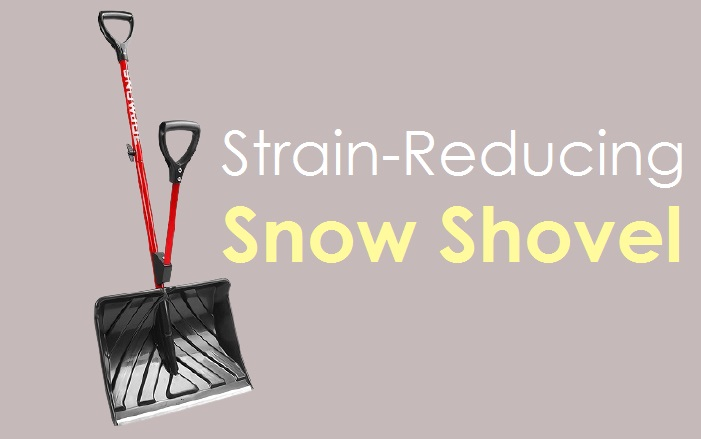 Snow Joe Shovelution Strain-Reducing Snow Shovel