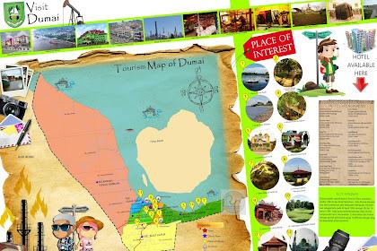 Peta Wisata Kota Dumai - Tourism Map of Dumai City - Riau - Indonesia