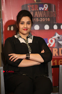 Tamil Actress Meena Latest Stills in Black Dress at TSR TV9 Awards Press Meet  0125.JPG