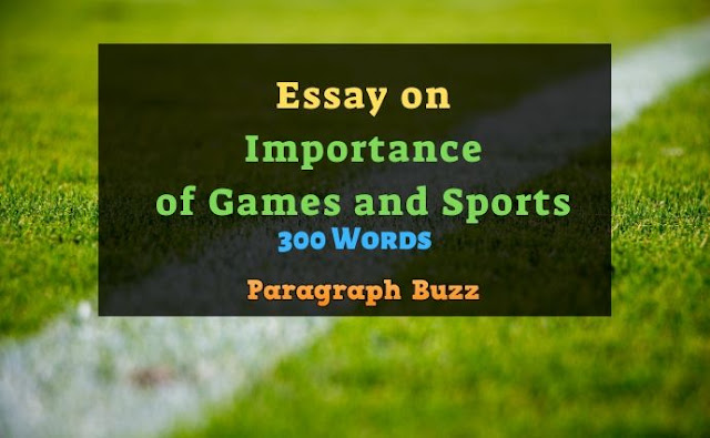 Essay on Importance of Games and Sports