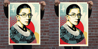 "Ruth Bader Ginsburg ""A Champion of Justice"" Screen Print by Shepard Fairey x Obey Giant"