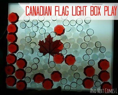 Celebrate Canada Day with this light table (or light box) idea from And Next Comes L
