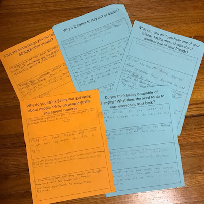 Trouble Talk lesson plan: Round table task sheets for students that sit in groups.