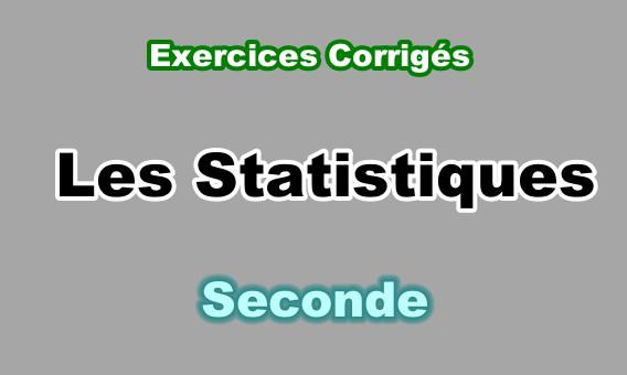 Exercices Corrigés de Statistiques en Seconde PDF - exercours