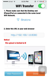 How to transfer files from iphone to pc using air transfer