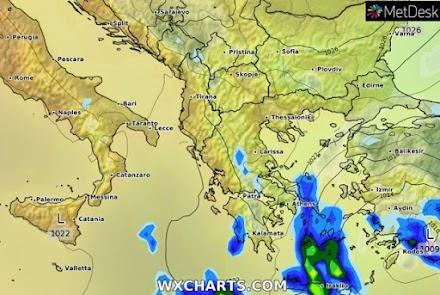 Συνεχίζεται η κακοκαιρία στα ανατολικά ηπειρωτικά την Τετάρτη- Ισχυρά φαινόμενα στην Κρήτη