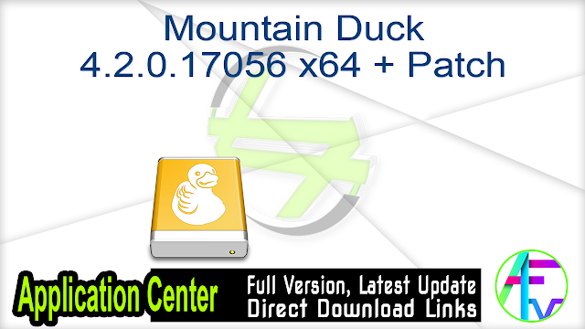 Mountain Duck 4.2.0.17056 x64 + Patch