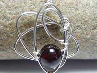 Garnet handmade jewellery