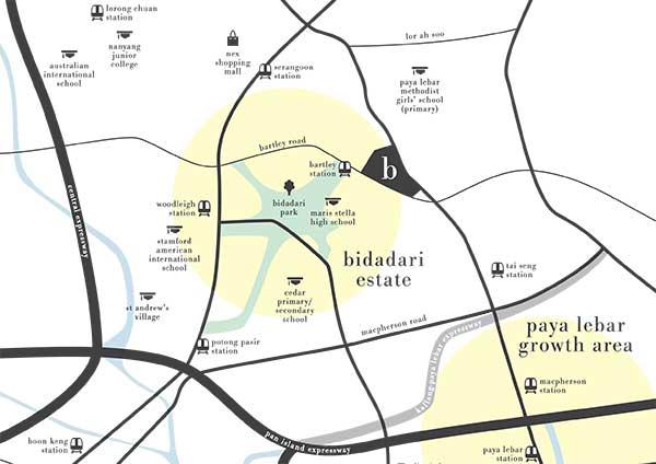 Botanique @ Bartley Location Map