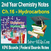 Hydrocarbons 2nd Year Chemsitry Notes