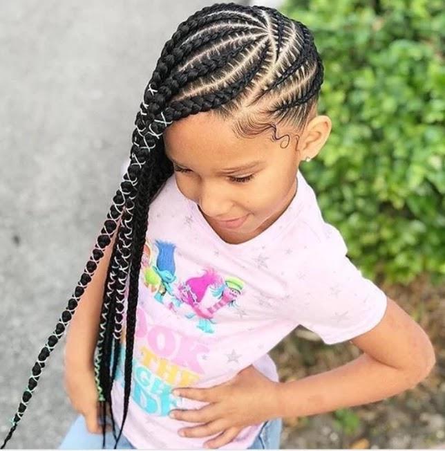 17+ Cute Lemonade Braids Hairstyles For Kids To Try Soon ...