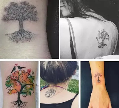 Tree Tattoo designs on body parts