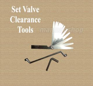 Gambar set spanar untuk adjust valve tappet motor