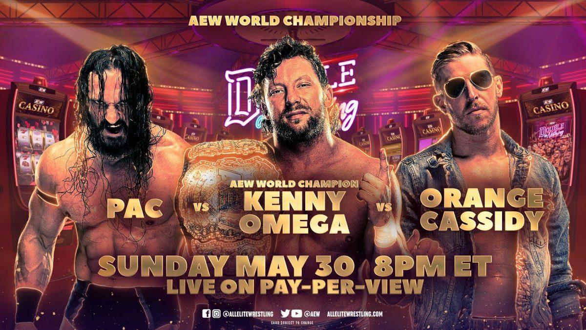 Kenny Omega, Orange Cassidy e PAC batalharão no AEW Double or Nothing 2021
