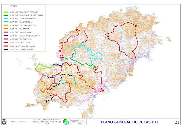 las 12 rutas para btt del consell d'eivissa