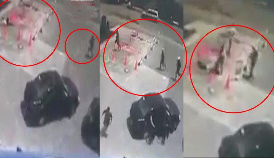 """VIDEO, Así plomearon en las piernas a uno de los sicarios de """"El General"""", líder """"Huachigasero"""" que salieron huyendo en Tepeaca, Puebla"""