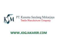 Loker Sleman Staff Administrasi di PT Kusuma Sandang Mekarjaya